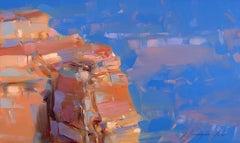 Canyon Rocks, Original Oil Painting, Handmade Artwork