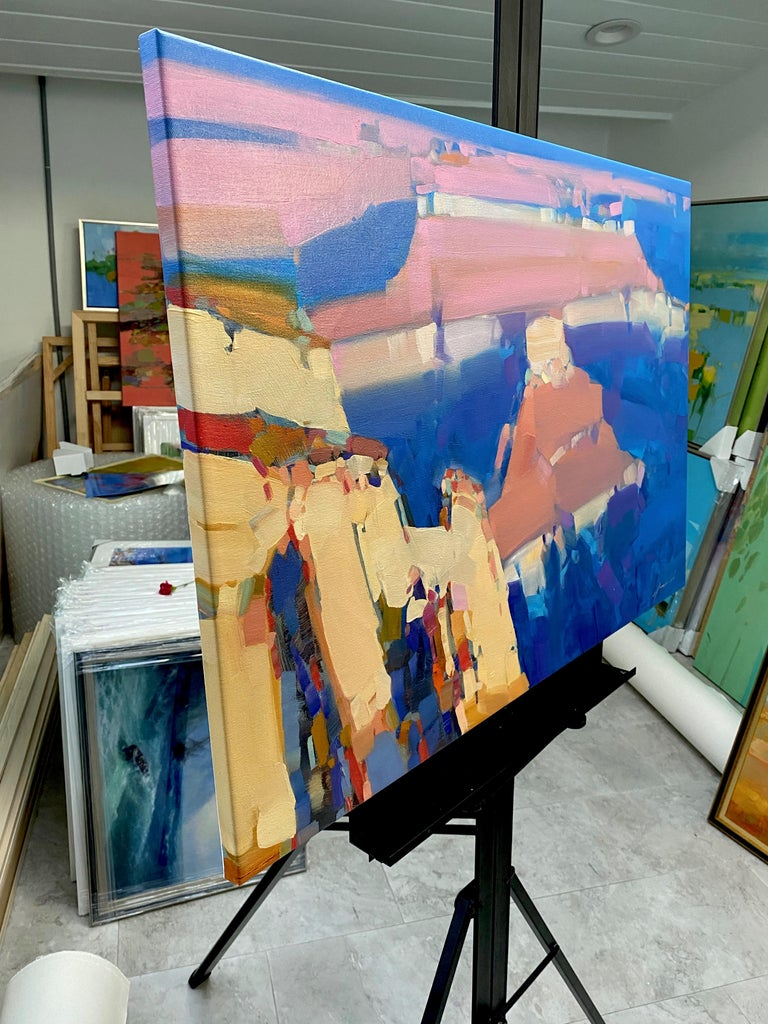 Canyon Sunset, Original oil Painting, Ready to Hang For Sale 1