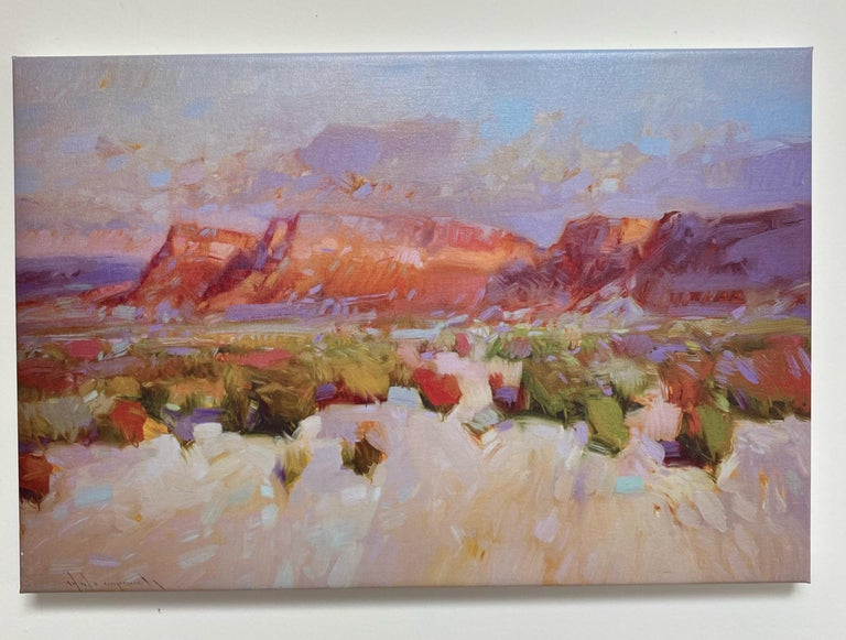 Canyon View, Print on Canvas - Painting by Vahe Yeremyan
