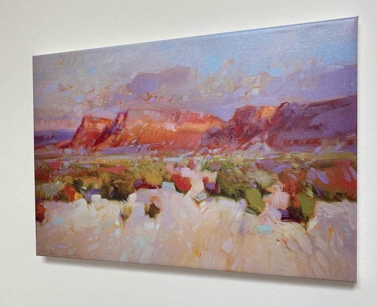 Canyon View, Print on Canvas - Impressionist Painting by Vahe Yeremyan