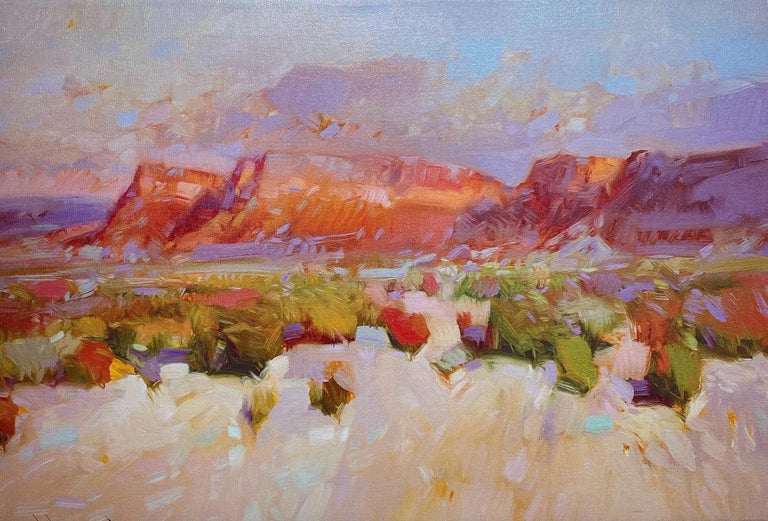 Vahe Yeremyan Landscape Painting - Canyon View, Print on Canvas