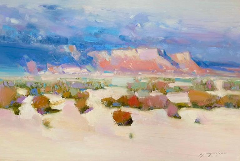 Vahe Yeremyan Landscape Painting - Canyon Way, Original Oil Painting, Handmade Artwork