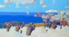 Carmel, Original oil Painting, Ready to Hang