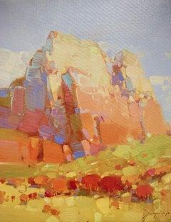 Cliff Mountain, Print on Canvas