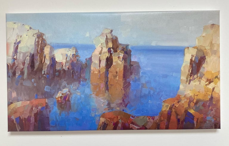 Cliffs, Print on Canvas - Painting by Vahe Yeremyan