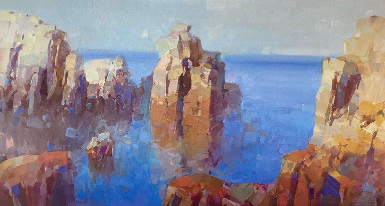Vahe Yeremyan Still-Life Painting - Cliffs, Print on Canvas