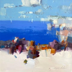 Coastal, Abstract Oil Painting