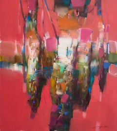 Crimson Lake, Original oil Painting