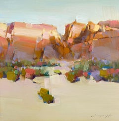 Desert View, Original oil Painting, Ready to Hang