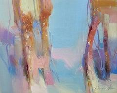 Foggy Trees, Original oil Painting, Painting, Oil on Canvas