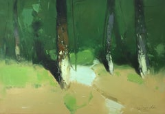 Forest Trees, Original oil Painting, Painting, Oil on Canvas