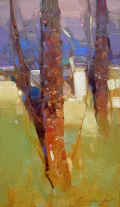 Forest Trees, Original oil Painting, Ready to Hang
