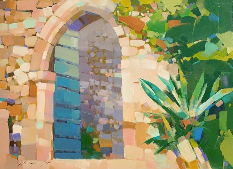 Vahe Yeremyan Landscape Painting - Gate of a Castle, Original Oil Painting, Handmade Artwork
