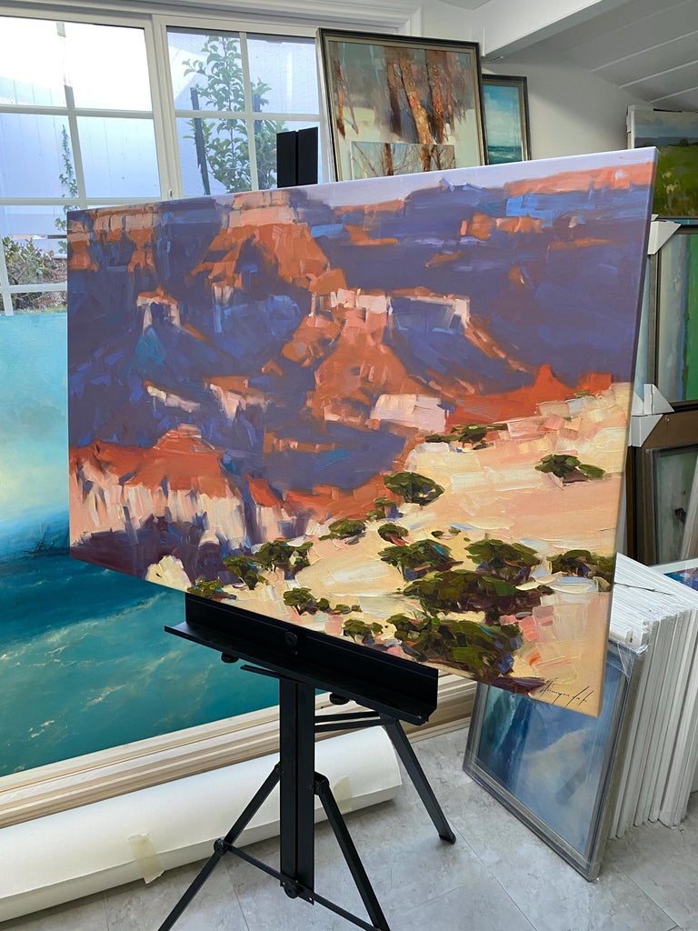 Grand Canyon, Original oil Painting, Ready to Hang For Sale 2