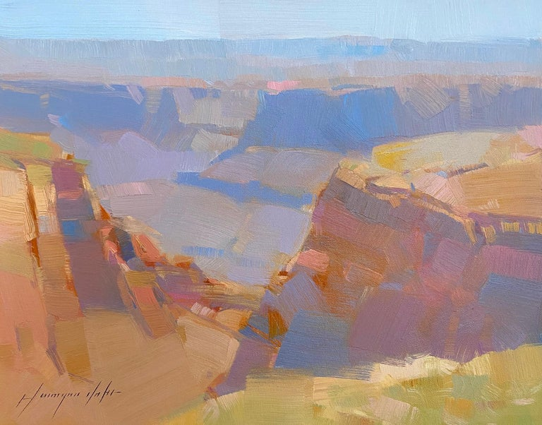 Vahe Yeremyan Landscape Painting - Grand Canyon, Original oil Painting, Ready to Hang