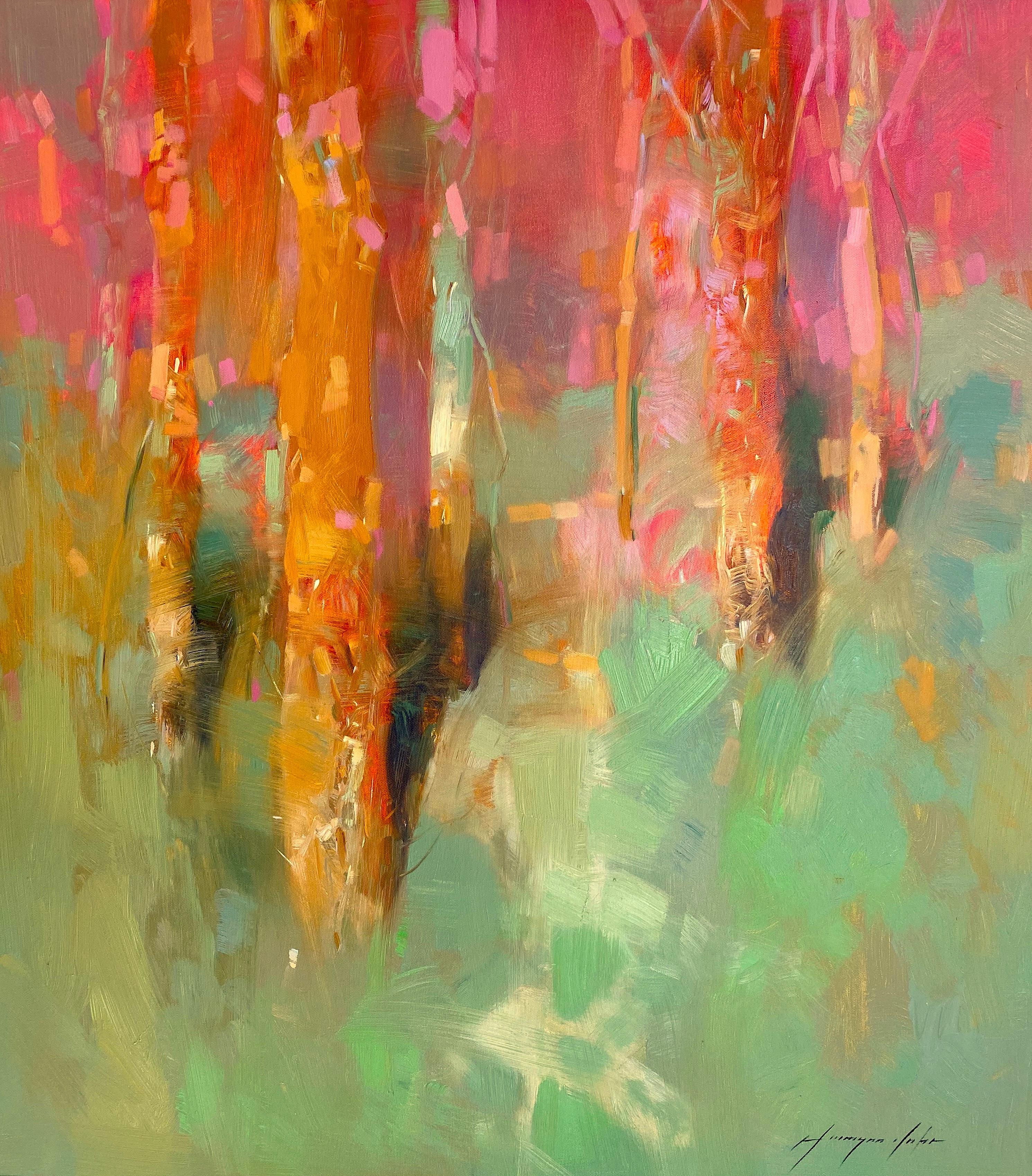 Grove, Original Oil Painting, Handmade Artwork