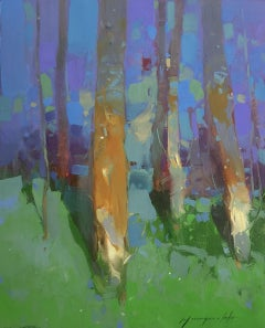Grove, Original oil Painting, Handmade artwork, Painting, Oil on Canvas