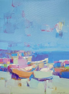 Harbor, Print on Canvas