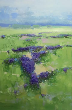 Lavenders Valley, Painting, Oil on Canvas