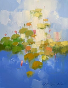 Lilies Pond, Original oil Painting, Ready to Hang
