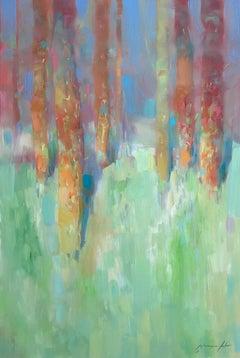 Marble Forest, Original Oil Painting, Handmade Artwork