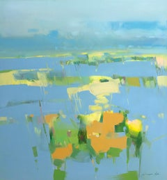Meadow Breeze, Original Oil Painting, Handmade artwork