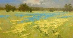 Meadow, Original oil Painting, Framed