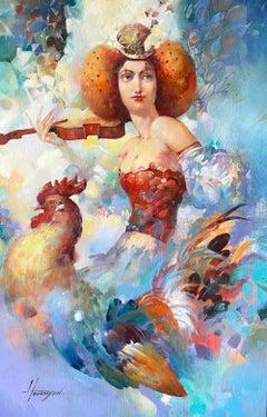 Morning Melody, Original oil Painting, Ready to Hang