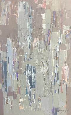 Neutral Design, Abstract Original Oil Painting