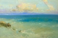 Ocean Breeze, Original Oil Painting, Handmade artwork