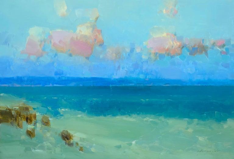 Vahe Yeremyan Landscape Painting - Ocean Breeze, Original oil Painting, Ready to Hang