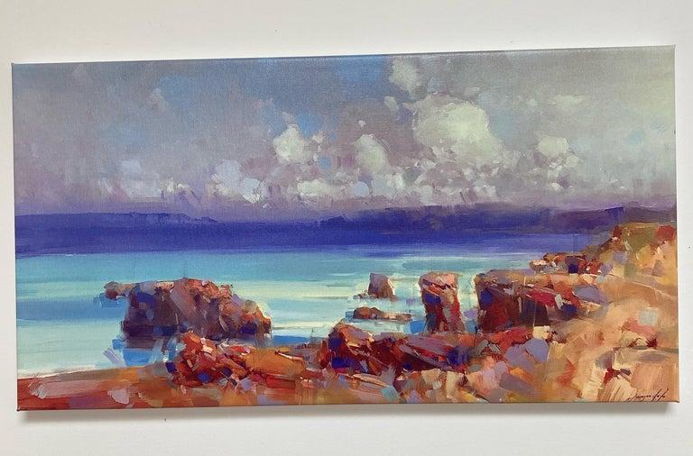 Ocean Side, Print on Canvas - Painting by Vahe Yeremyan