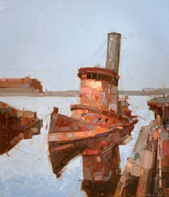 Old Tug, Original oil Painting, Ready to Hang