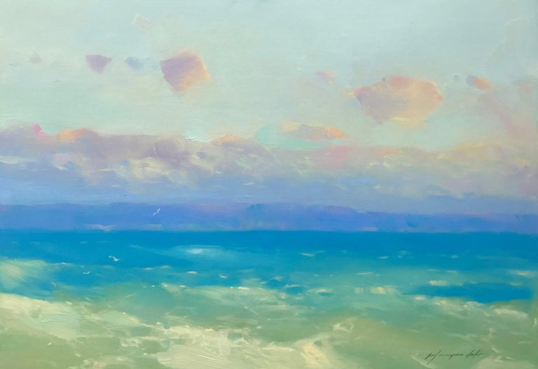 Vahe Yeremyan Landscape Painting - Pacific Coast, Original Oil Painting, Handmade Artwork
