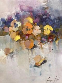 Pansies Print on Canvas