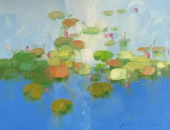 Pond, Original oil Painting, Ready to Hang