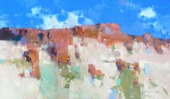 Red Rocks, Original oil Painting, Ready to Hang