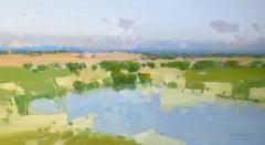 River Bank, Original oil Painting, Ready to Hang