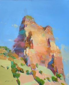 Rock in Sedona, Original oil Painting, Ready to Hang