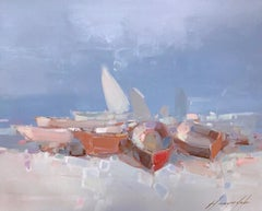Rowboats Print on Canvas