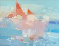 Sail Boats, Original oil Painting, Ready to Hang