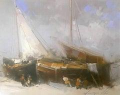 Sail Boats, Print on Canvas