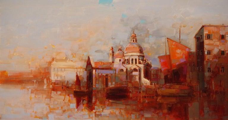 Vahe Yeremyan Landscape Painting - Santa Maria della Salute- Venice