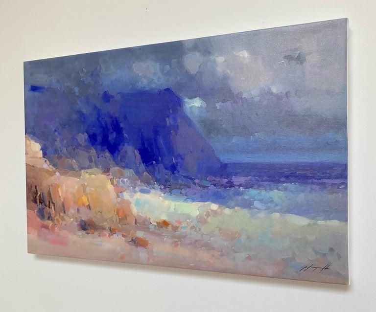 Seashore, Print on Canvas - Impressionist Painting by Vahe Yeremyan