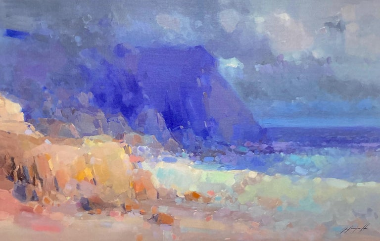 Vahe Yeremyan Landscape Painting - Seashore, Print on Canvas