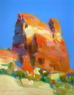 Sedona Cliff, Original oil Painting, Ready to Hang