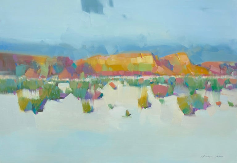 Vahe Yeremyan Landscape Painting - Sedona View, Original oil Painting, Ready to Hang