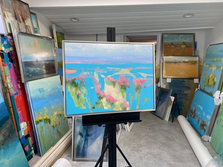 Artist: Vahe Yeremyan  Work: Original Oil Painting, Handmade Artwork, One of a Kind  Medium: Oil on Canvas  Year: 2021 Style: Contemporary Art,  Subject: Sky Valley, Size: 23