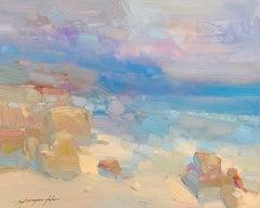 South Bay, Original Oil Painting, Handmade Artwork
