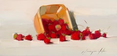Strawberries, Original Oil Painting, Handmade Artwork